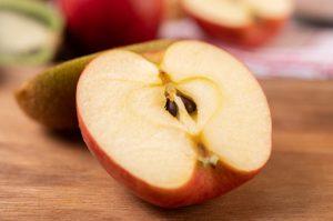 apple cut half